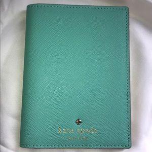 KATE SPADE Tiffany Blue Passport Holder